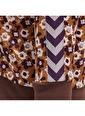Hummel Hummel 2081558053 Darla Fermuarlı Çiçek Desenli Kız Çocuk Sweatshirt Renkli